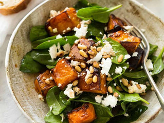 Roasted Pumpkin & Feta Salad with Miso Dressing