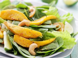 Mango & Baby Spinach Salad with Honey Mustard