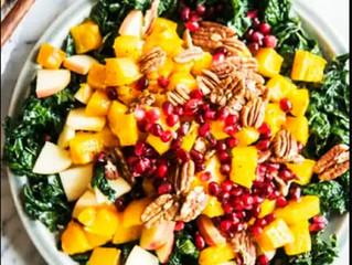 Roasted Yellow Pumpkin & Kale Bowl