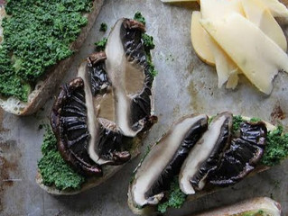 Kale Pesto & Grilled Tomme Toast