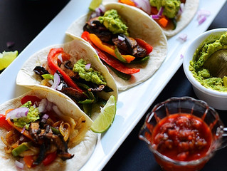 Portobello Fajitas with Vegan Queso