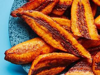 Garlic Fried Raw Banana Plantains
