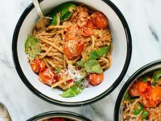 Sun-dried Tomato Pesto Zoodle Spaghetti