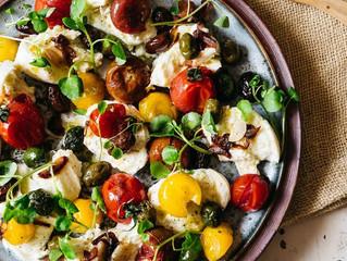 Mozzarela & Warm Cherry Tomato Salad