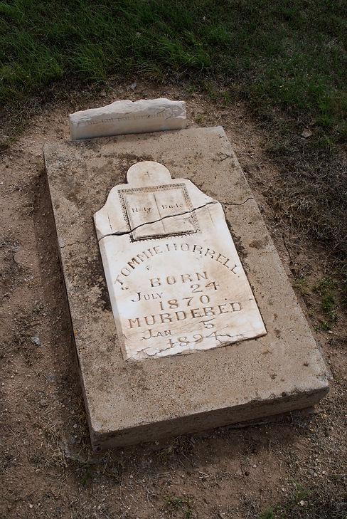 Horrell, Tommie gravestone, Emma 1894.jpg