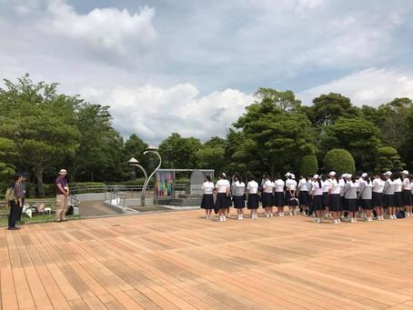 兵庫の中学生 千羽鶴を奉納