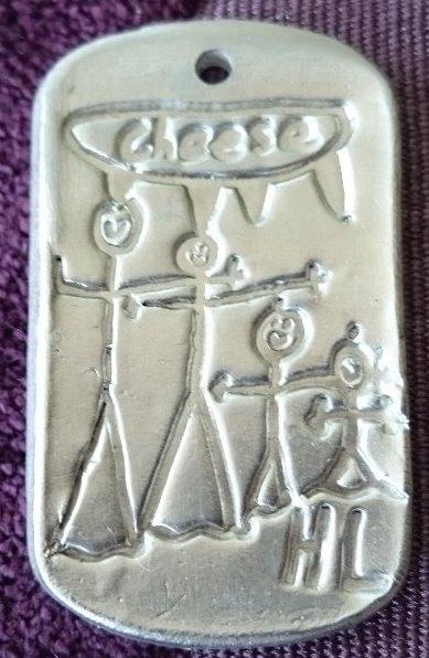 Children's artwork pendant