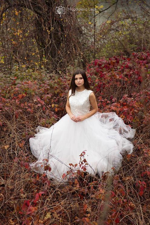 sesja ślubna portret panny młodej