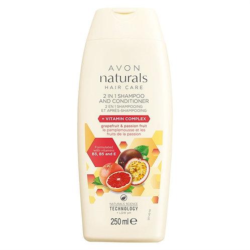 Naturals 2-in-1 Shampoo & Conditioner Grapefruit & Passion Fruit+Vitamin 250ml