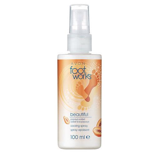 Avon Foot Works Beautiful Papaya Sorbet Cooling Spray 100ml