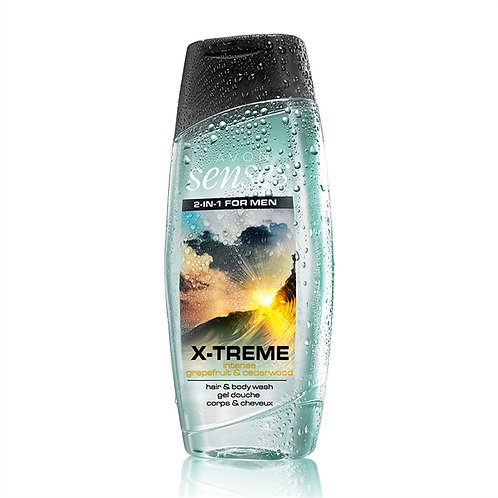 Avon Senses X-Treme Grapefruit & Cedarwood Hair & Body Wash - 250ml