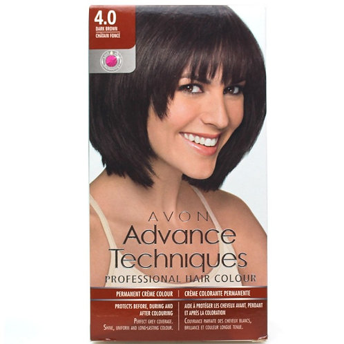Avon Advance Techniques Permanent Hair Colour Dye - Dark Brown 4.0