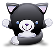 cute-black-and-white-cat-icon-2459.png