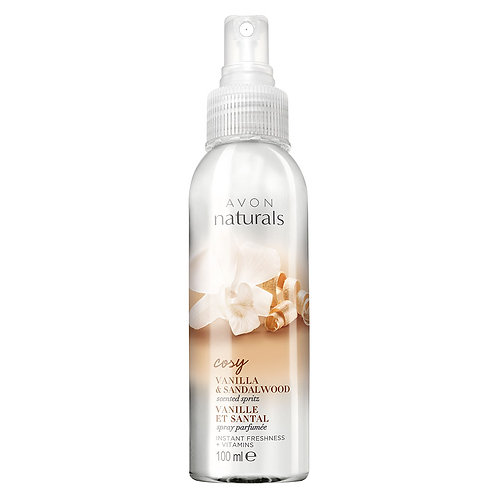 Avon Naturals Vanilla & Sandalwood Scented Spritz Spray 100ml
