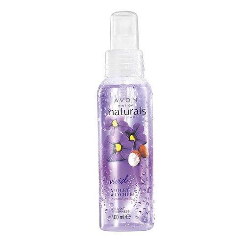 Avon Naturals Violet & Lychee Fragrance Scented Spritz Spray 100ml