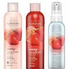 Avon Naturals Strawberry & Guava Set of 3