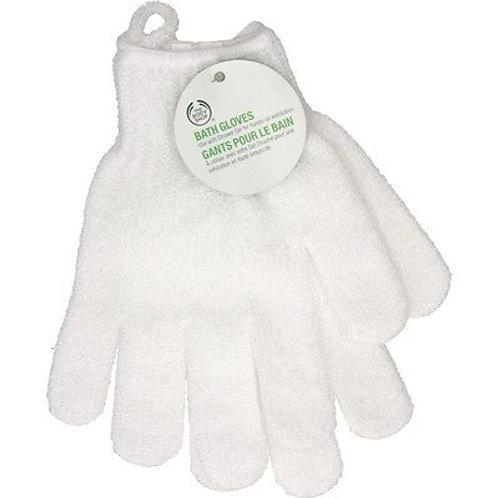 Body Shop Bath Gloves - White