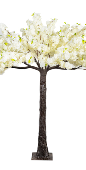 200cm DELUXE ARTIFICIAL BLOSSOM TREE IVORY