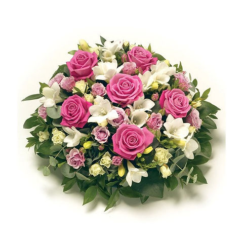 FUNERAL PINK & WHITE POSY