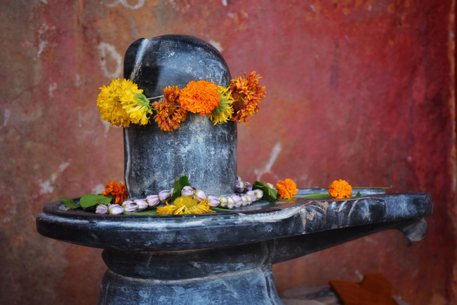 Shiva lingam of Lord Shiva (Indian God)