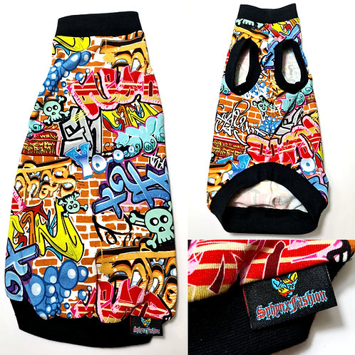 Graffiti Jersey - Sphynx Cat Top