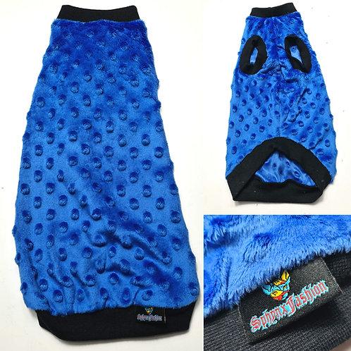 Blue Minky Fleece L