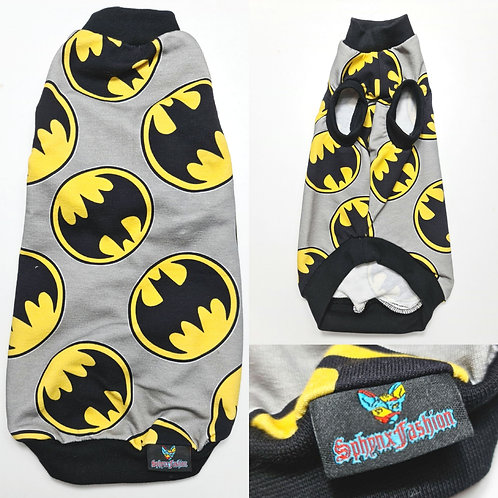 Grey Batman Cotton Knit - Sphynx Cat Top