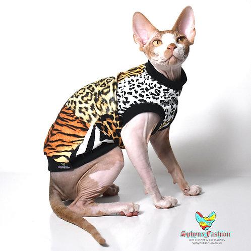 Animal Patch Cotton Knit - Sphynx Cat Top