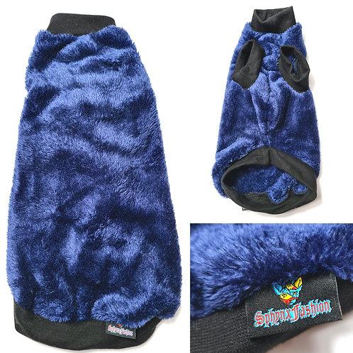 Navy Reclaimed Extra Soft Fleece - Sphynx Cat Top
