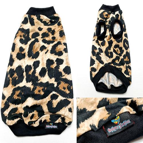 Leopard Lightweight Velvet- Sphynx Cat Top