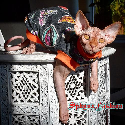 Retro Cotton Knit - Sphynx Cat Top