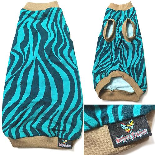 Green Tiger Reclaimed Jersey - Sphynx Cat Top
