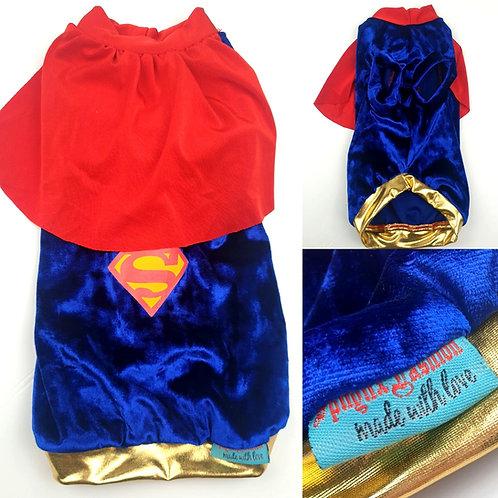 Superman Costume - Sphynx Cat Top