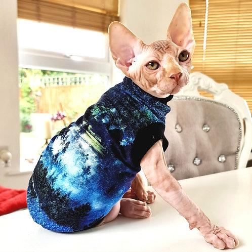 Twilight Cotton Knit - Sphynx Cat Top