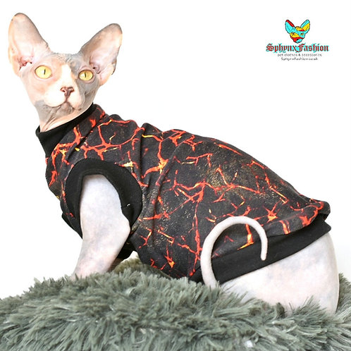 Black Marble Cotton Knit- Sphynx Cat Jumper