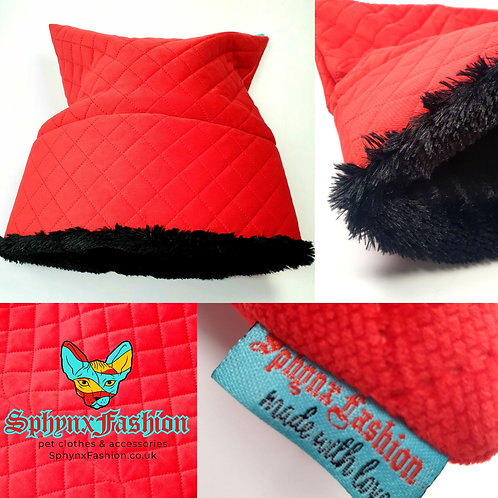 Red Fleece Snuggle Pet Bed