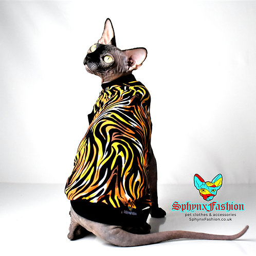 Tiger Cotton Knit - Sphynx Cat Top