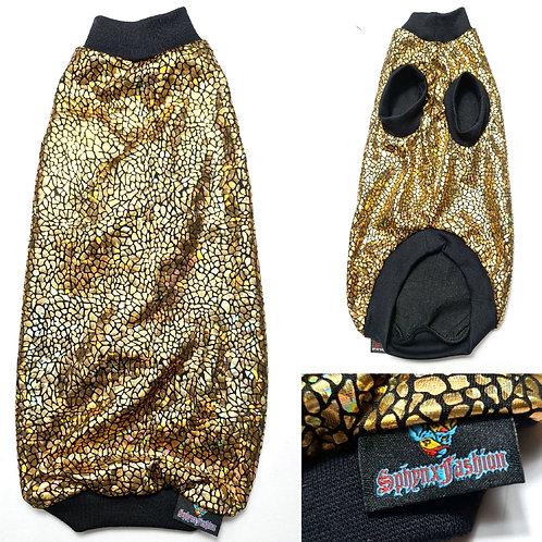 Gold Helo Jersey - Sphynx Cat Top