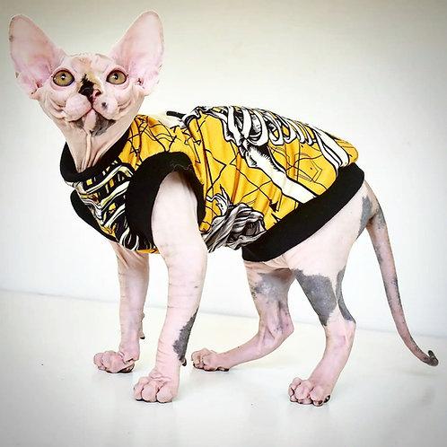 Skeleton Cotton Knit - Sphynx Cat Top