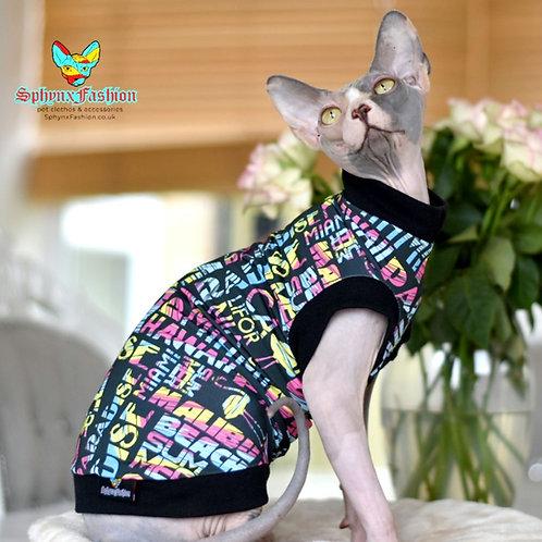 California Jersey - Sphynx Cat Top