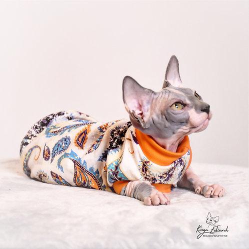 Paisley Cotton Knit - Sphynx Cat Top