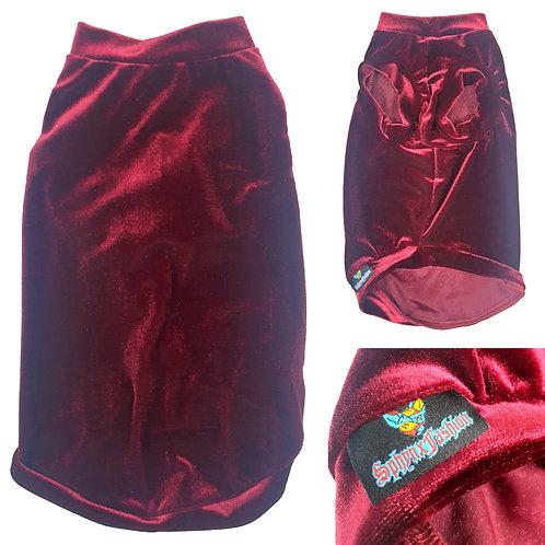 Red Wine Velvet - Sphynx Cat Top