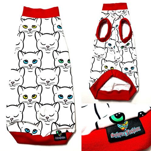 Catty Cotton Knit - Sphynx Cat Top
