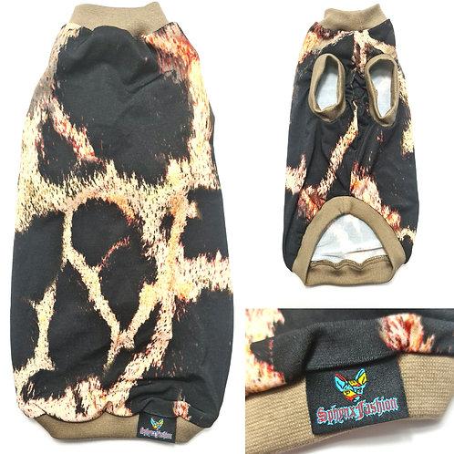 Snake Skin Reclaimed Jersey - Sphynx Cat Top