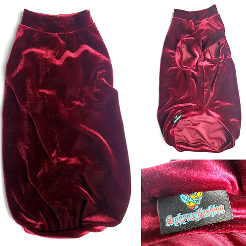 Long Red Wine Velvet (XLL)