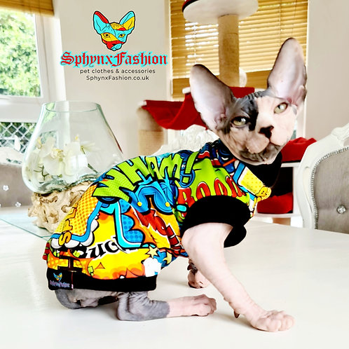 Black Pow Wow Cotton Knit - Sphynx Cat Jumper