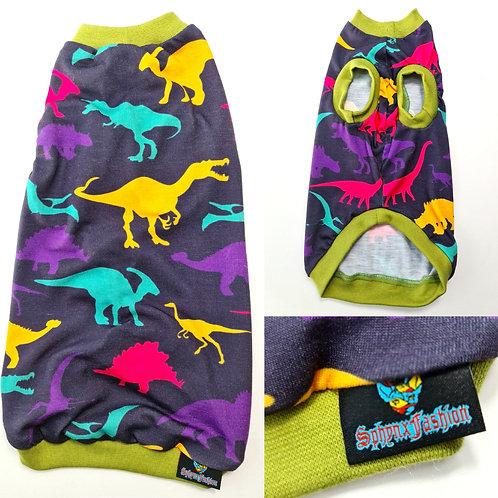 Black Dino Summer Jersey - Sphynx Cat Top