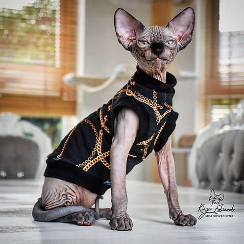 Chains Jersey - Sphynx Cat Top