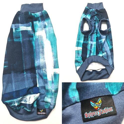 Sea Foam Reclaimed Cotton Knit - Sphynx Cat Top