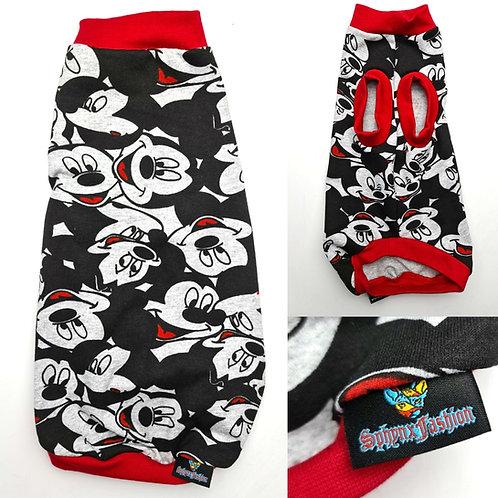 Grey Mickey Cotton Knit - Sphynx Cat Top